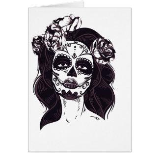 Cartão Crânio gótico