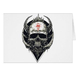 Cartão Crânio Horned do diabo