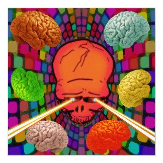 Cartão Crânio psicadélico