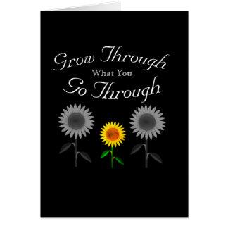 Cartão Cresça com o que você atravessa