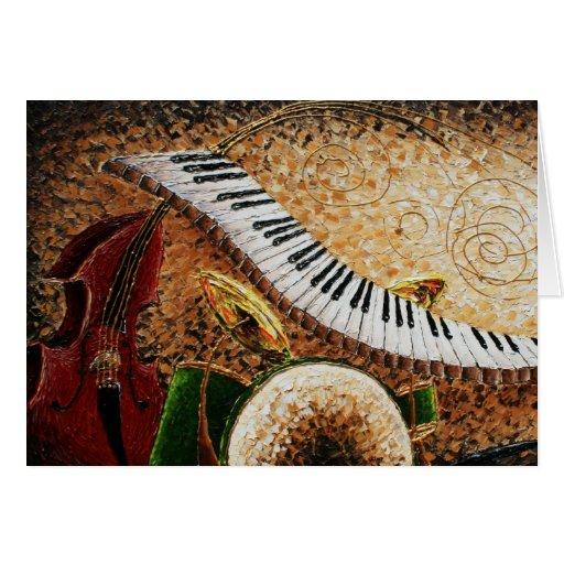 Cartão crescente do piano da cidade