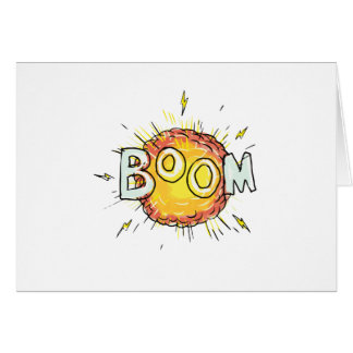 Cartão Crescimento da explosão dos desenhos animados