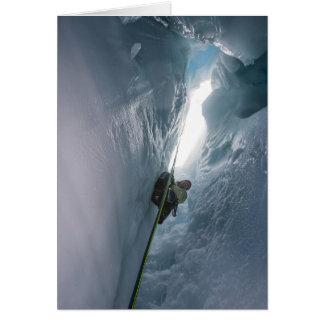 Cartão Crevasse de Juneau Icefield (vazio para dentro)