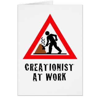 Cartão Criacionista no trabalho