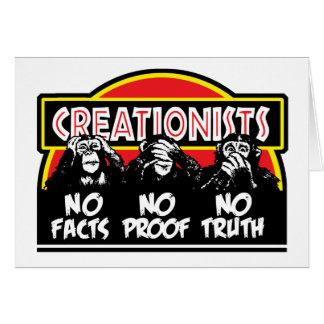 Cartão Criacionistas - cegos, surdos, e mudos!