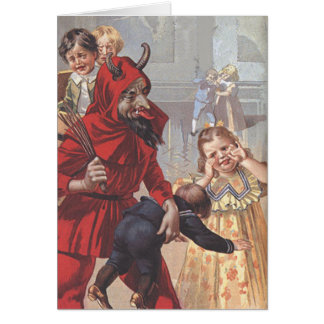 Cartão Criança da palmada de Krampus
