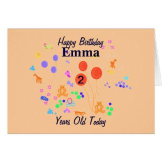 Cartão Criança de 2 anos do feliz aniversario