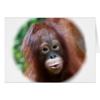 Cartão Criança do orangotango