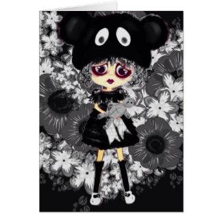 Cartão Criança gótico de Lolita - porque PinkyP tão