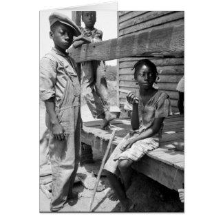Cartão Crianças do delta de Mississippi por Dorothea