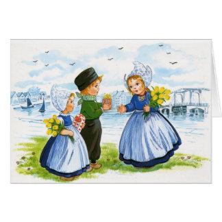 Cartão Crianças holandesas