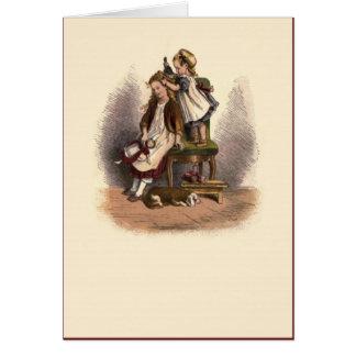 Cartão Crianças nenhuns do Victorian 8 a irmã mais velha
