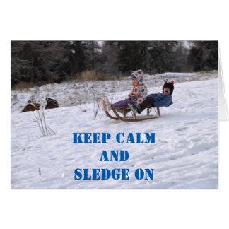Cartão Crianças que sledging