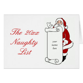 Cartão Criar o feriado impertinente da lista do seu