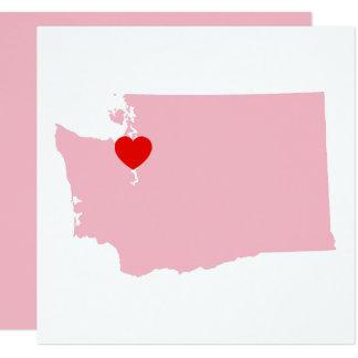 Cartão Criar seu próprio casamento de Washington da cor