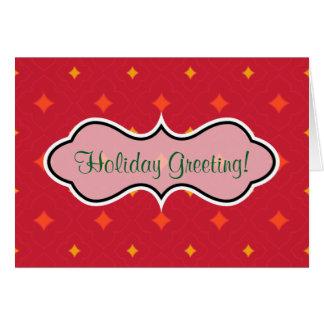 Cartão Criar seu próprio feriado modelado Natal