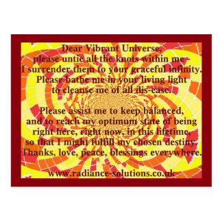 Cartão criativo 5 - cara oração vibrante do