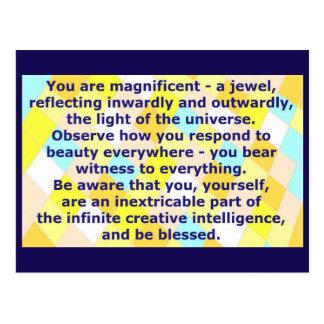 Cartão criativo 7 - você é uma jóia magnífica