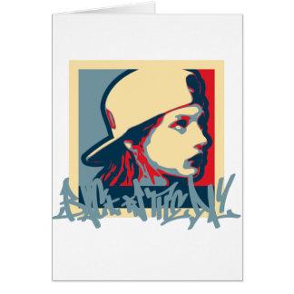 Cartão Crime da arte de Oldschool do vintage de Hiphop do