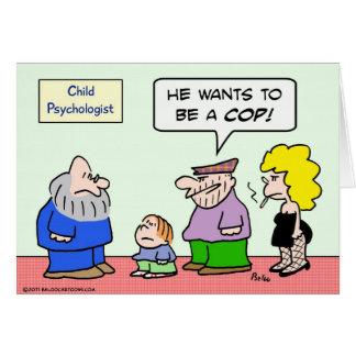 Cartão criminosos da polícia da bobina do psicólogo da