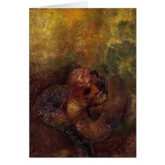 Cartão Crisálida por Odilon Redon