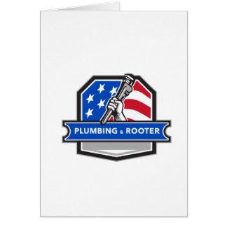 Cartão Crista da bandeira dos EUA da chave de tubulação