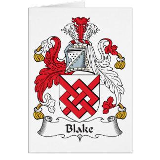 Cartão Crista da família de Blake