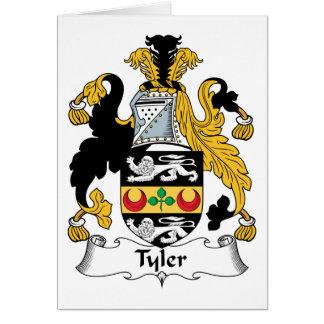 Cartão Crista da família de Tyler