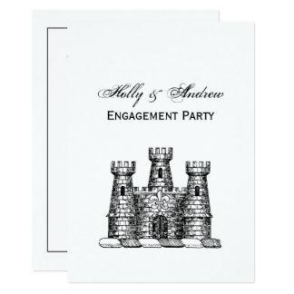 Cartão Crista heráldica da brasão do emblema do castelo