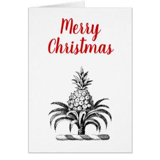Cartão Crista heráldica formal da brasão do abacaxi