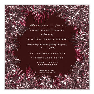 Cartão Cristais Marsala preto do quadro das folhas da