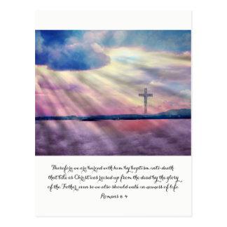 Cartão cristão bonito, 6:4 dos romanos