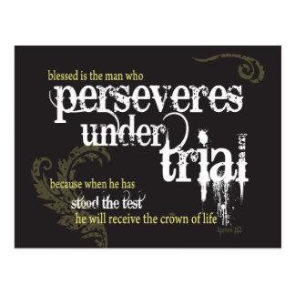 Cartão cristão: Persevera sob a experimentação
