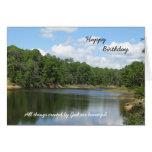 Cartão cristão religioso do aniversário