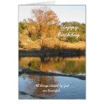 Cartão cristão religioso do aniversário - rio