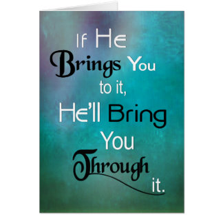 Cartão Cristão - trá-lo-á com ele! (Citações)