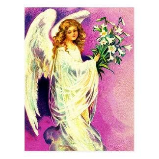 Cartão cristãos da páscoa do anjo da páscoa do vin cartoes postais