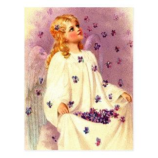 Cartão cristãos da páscoa do anjo da páscoa do vin cartao postal