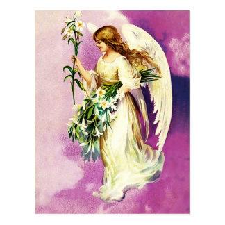 Cartão cristãos da páscoa do anjo da páscoa do vin cartão postal