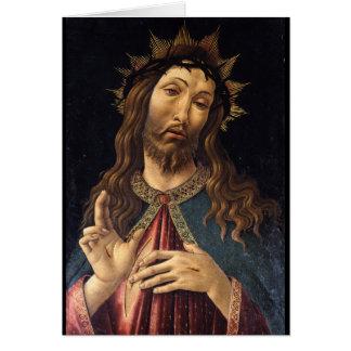 Cartão Cristo coroado com os espinhos por Botticelli