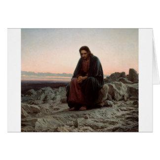 Cartão Cristo de Ivan Kramskoy- nas belas artes da região
