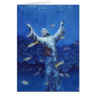 Cartão cristo e angelfish