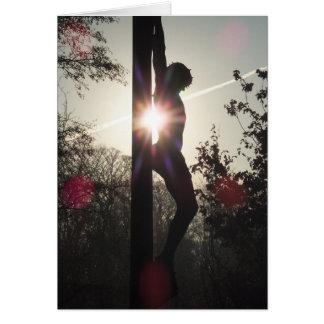 Cartão Cristo na cruz