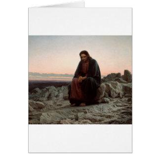 Cartão Cristo na região selvagem - belas artes de Ivan