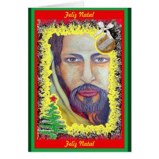 Cartão Cristo Natalino