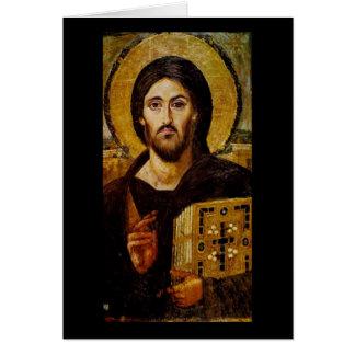 Cartão Cristo o salvador