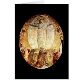 Cartão Cristo transcendente aumentado do túmulo