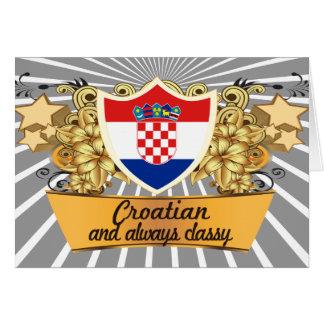 Cartão Croata elegante