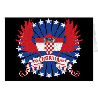 Cartão Croatia voou