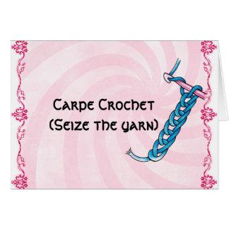 Cartão Crochet de Carpe
